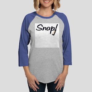 Snap Womens Baseball Tee