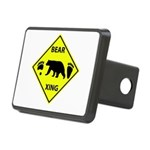 Bear and Tracks XING Rectangular Hitch Cover