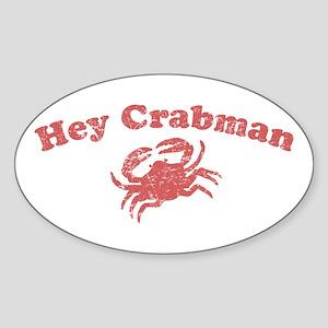 Hey Crabman Oval Sticker