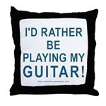 Playing Guitar Throw Pillow