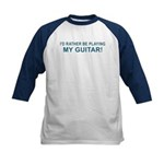 Playing Guitar Kids Baseball Jersey