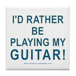 Playing Guitar Tile Coaster