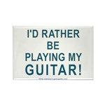 Playing Guitar Rectangle Magnet