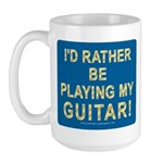 Playing Guitar Large Mug