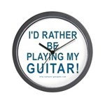 Playing Guitar Wall Clock