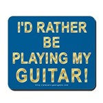 Playing Guitar Mousepad