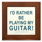 Playing Guitar Framed Tile