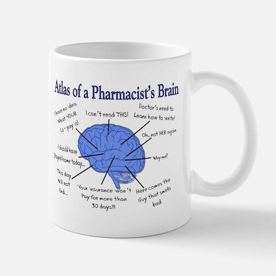 Atlas of a Pharmacists Brain Mugs