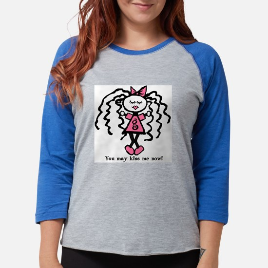 gg-kissmenow1.png Womens Baseball Tee