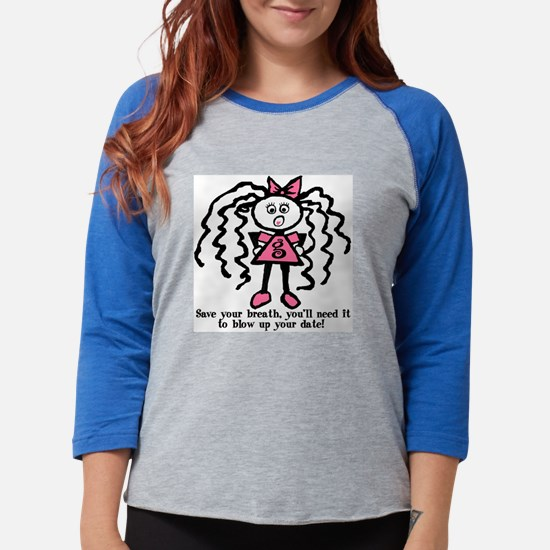 gg-saveyourbreath1.png Womens Baseball Tee