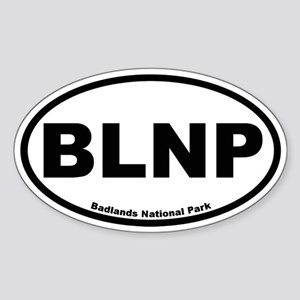 Badlands National Park Oval Sticker