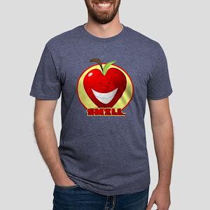 smiley apple Mens Tri-blend T-Shirt