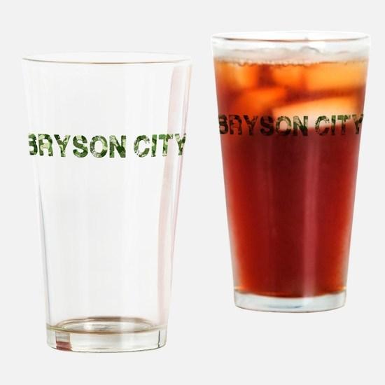 Bryson City, Vintage Camo, Drinking Glass