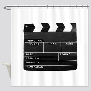Movie Video production Clapper boar Shower Curtain