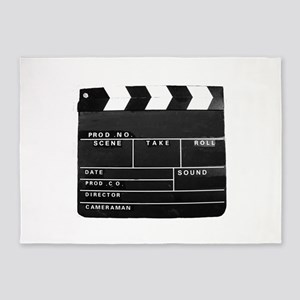 Movie Video production Clapper boar 5'x7'Area Rug
