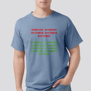 Merry Christmas in Binar Mens Comfort Colors Shirt
