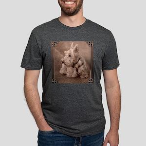 WheatenScottie_tile Mens Tri-blend T-Shirt
