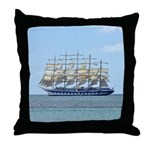 Caribbean Ship Throw Pillow