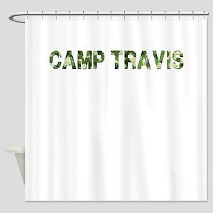 Camp Travis, Vintage Camo, Shower Curtain