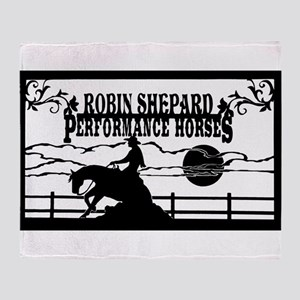 rsph barn sign black Throw Blanket