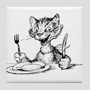 Happy Cat Tile Coaster