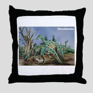 Chirostenotes Dinosaur Throw Pillow