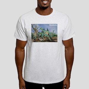 Chirostenotes Dinosaur (Front) Ash Grey T-Shirt