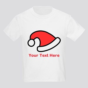 Santa Hat Picture and Text. Kids Light T-Shirt