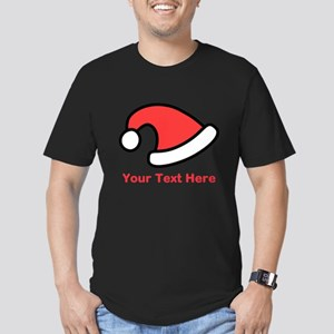 Santa Hat Picture and Text. Men's Fitted T-Shirt (