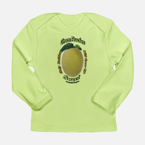 Ruthless Green Peaches Long Sleeve Infant T-Shirt