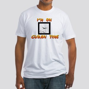 CUBAN TIME Fitted T-Shirt