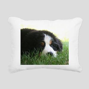 Bernese Puppy Rectangular Canvas Pillow