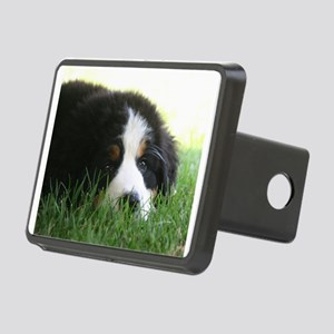 Bernese Puppy Rectangular Hitch Cover