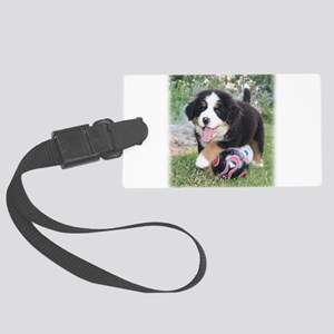 Mia Soccer Puppy Large Luggage Tag