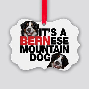 It's A Bernese Mountain Dog Picture Ornament