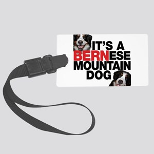 a bernesmtndogkodamia Large Luggage Tag