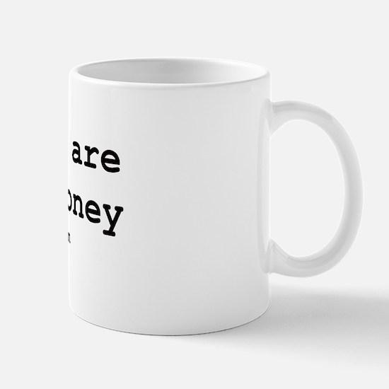 """""""hard on money"""" Mug"""