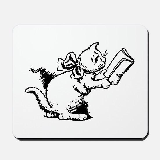 Reading Kitten Mousepad