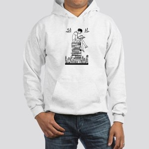 Reading Girl atop books Hooded Sweatshirt