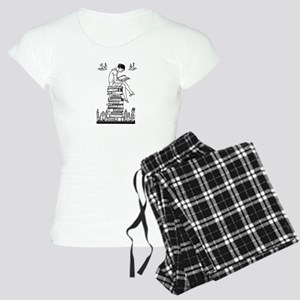 Reading Girl atop books Women's Light Pajamas