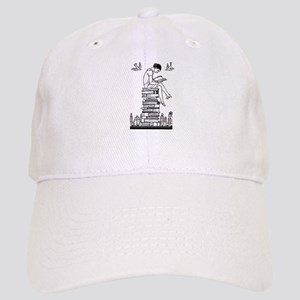 Reading Girl atop books Cap