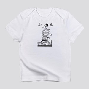Reading Girl atop books Infant T-Shirt