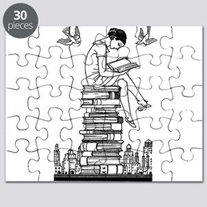 Reading Girl atop books Puzzle