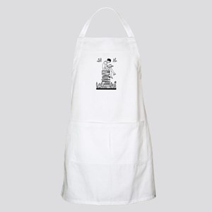 Reading Girl atop books Apron