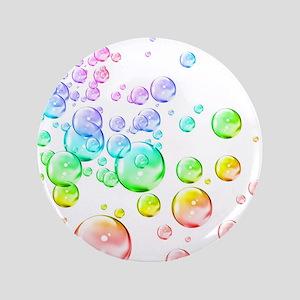 """Colored bubbles 3.5"""" Button"""