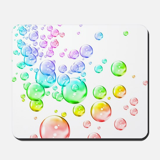 Colored bubbles Mousepad