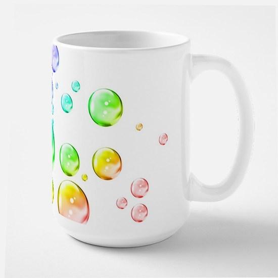 Colored bubbles Large Mug