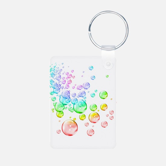 Colored bubbles Aluminum Photo Keychain