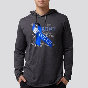 My Aunt is a Survivor (blue) Mens Hooded Shirt