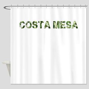 Costa Mesa, Vintage Camo, Shower Curtain